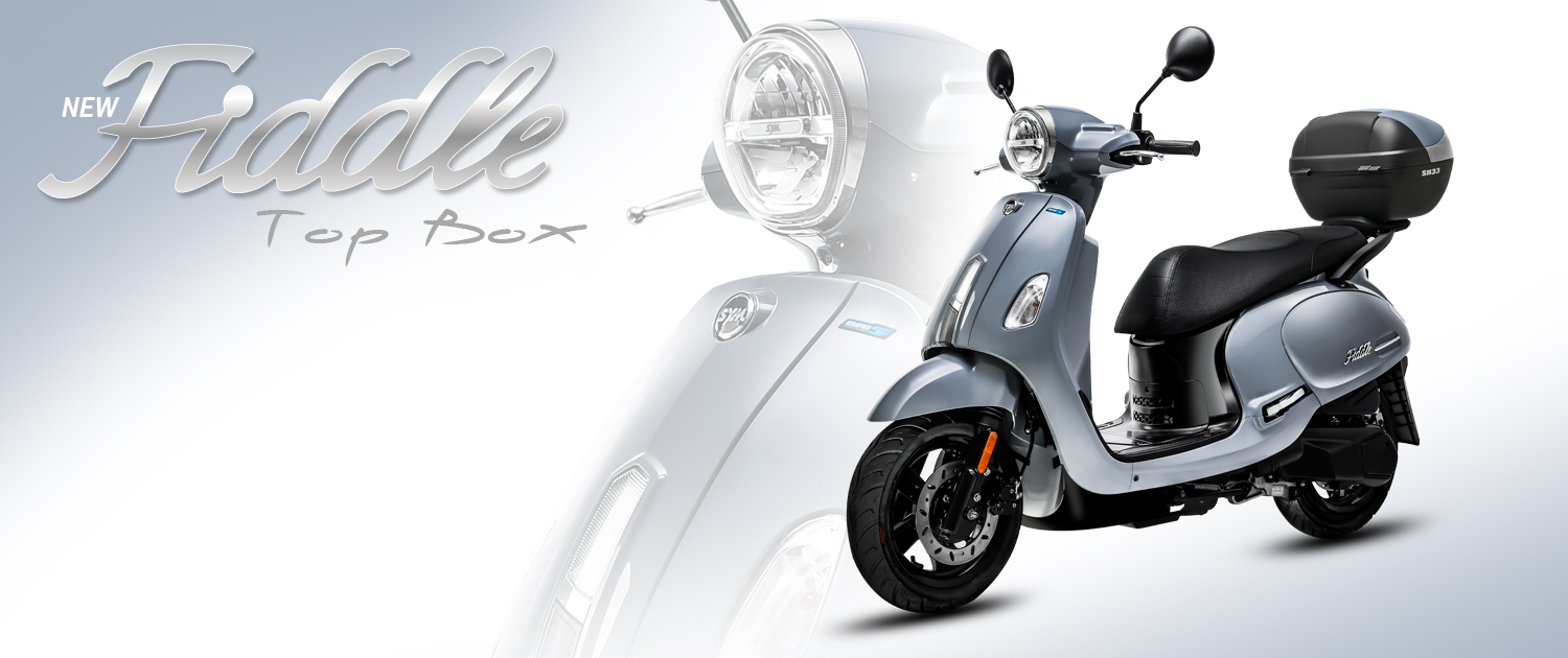 FIDDLE 125 TOP BOX NEW – Sym Scooters